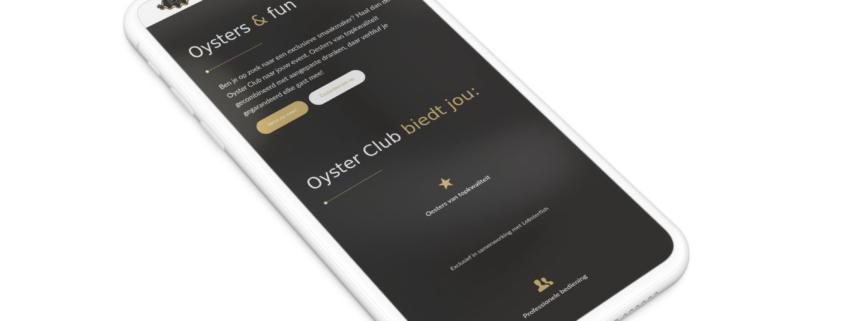 Website voor Oyster Club uit Gent