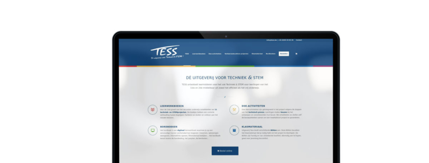 Website tess.be - De uitgeverij voor techniek en STEM